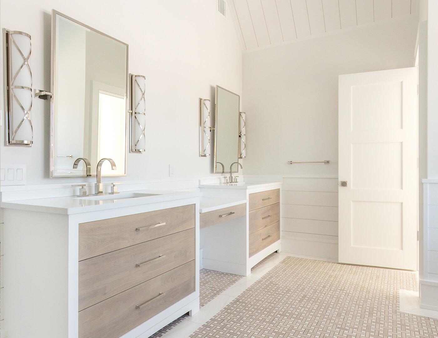 white taj cabinets